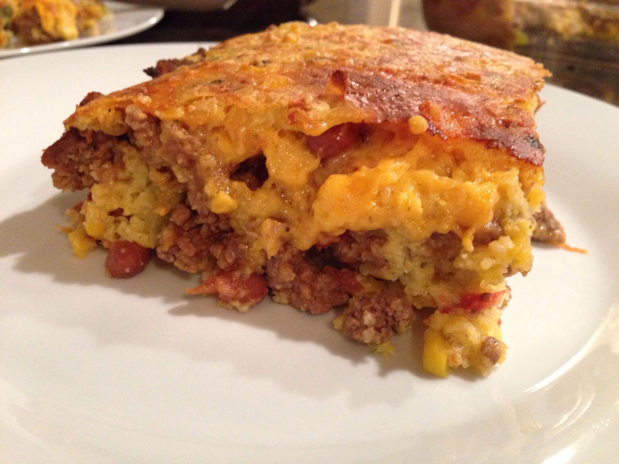 Mexican Cornbread With Ground Beef And Rotel  Easy Cowboy Cornbread Casserole With images
