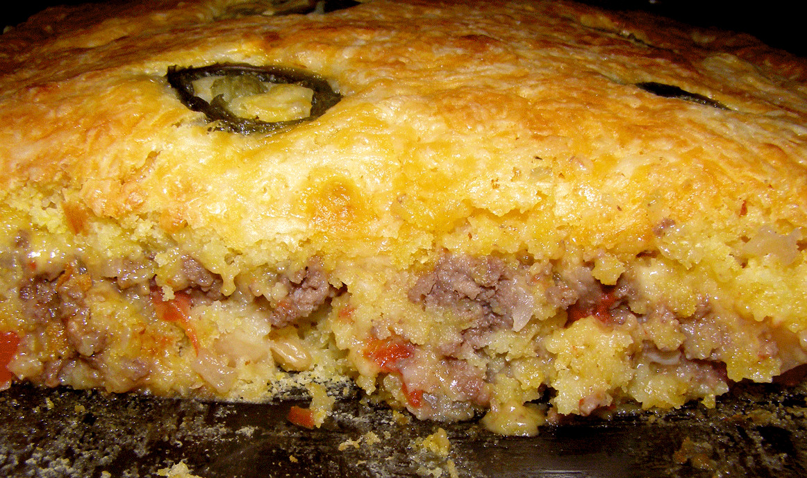 Mexican Cornbread With Ground Beef And Rotel  Mexican Cornbread Casserole made with ground beef this