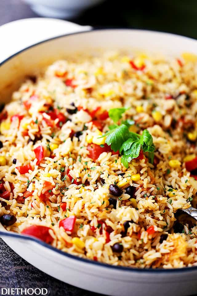 Mexican Rice Dishes  Fiesta Rice Recipe Diethood