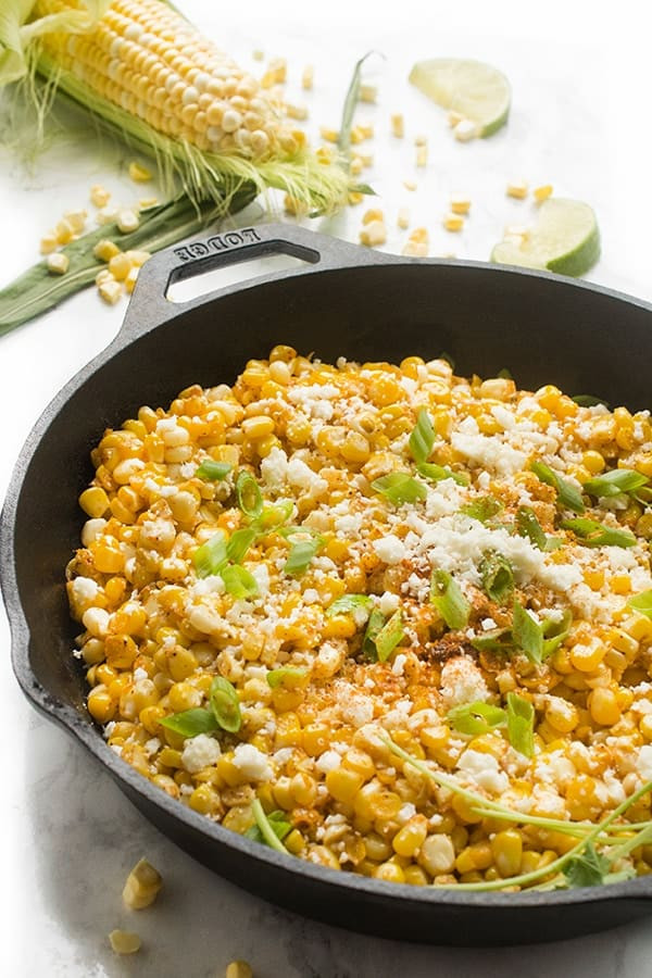Mexican Side Dishes  Skillet Mexican Street Corn The Lemon Bowl