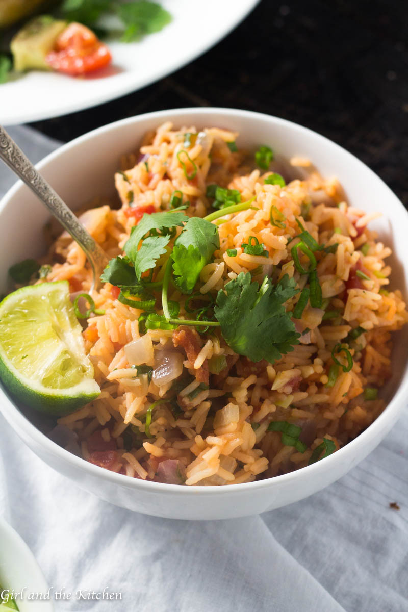 Mexican Style Rice  Quick and Easy Restaurant Style Mexican Rice Girl and