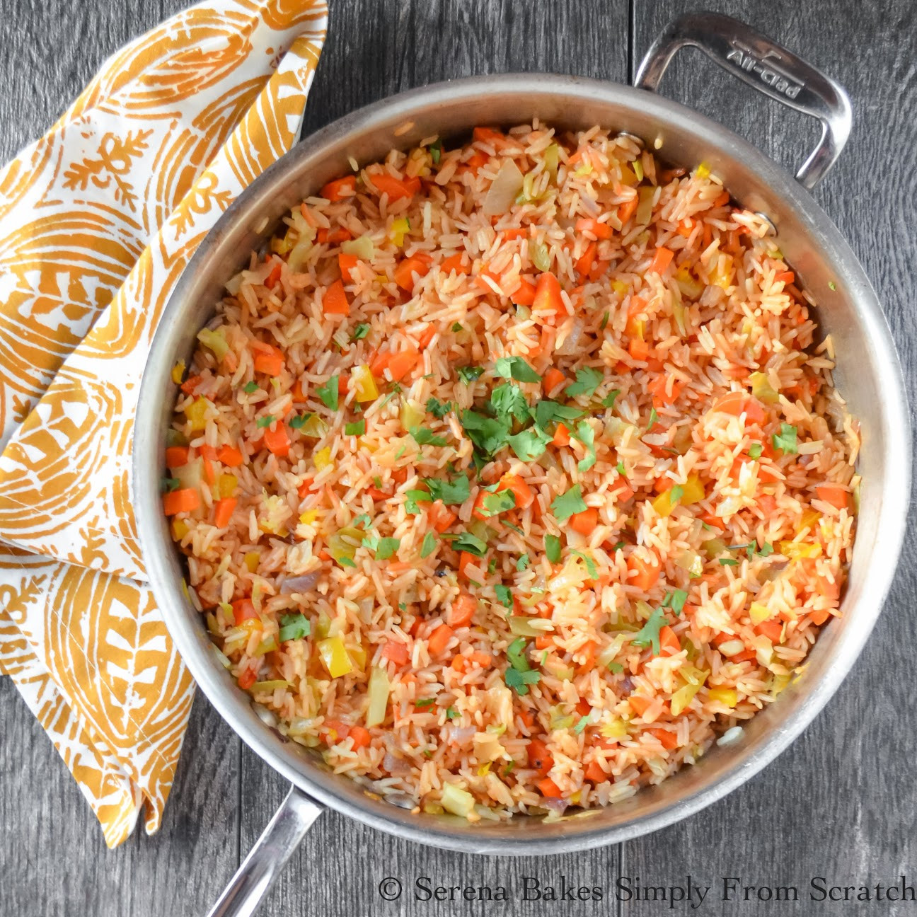 Mexican Style Rice  Restaurant Style Mexican Rice Serena Bakes Simply From