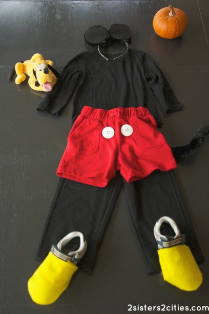 Mickey Mouse Costume DIY  October 2012 Archives 2 Sisters 2 Cities