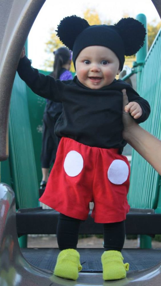 Mickey Mouse Costume DIY  Cold weather Homemade and Costumes on Pinterest