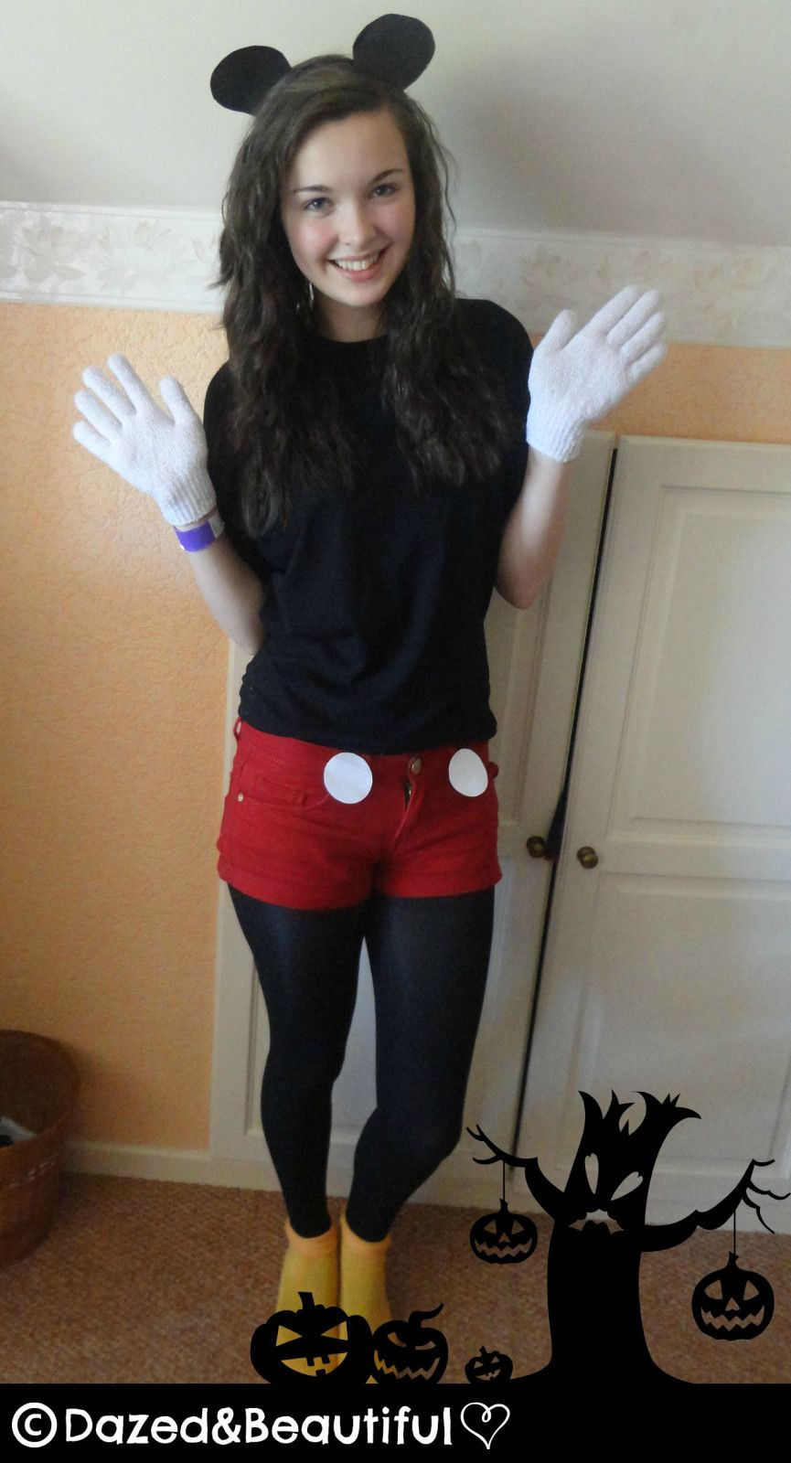 Mickey Mouse Costume DIY  DIY Mickey Mouse Costume im so this 4 halloween