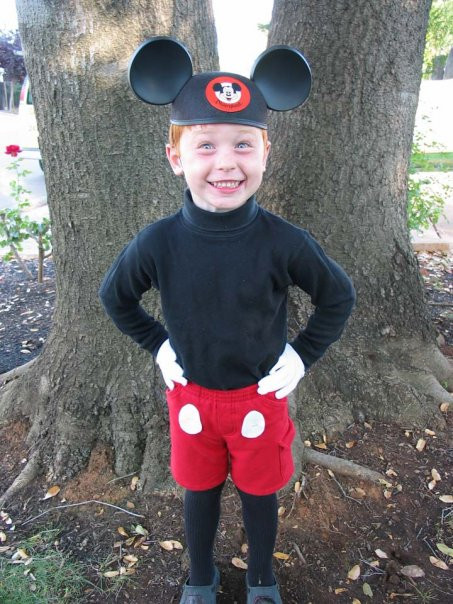 Mickey Mouse Costume DIY  Homemade Costume Idea Mickey Mouse Mommysavers