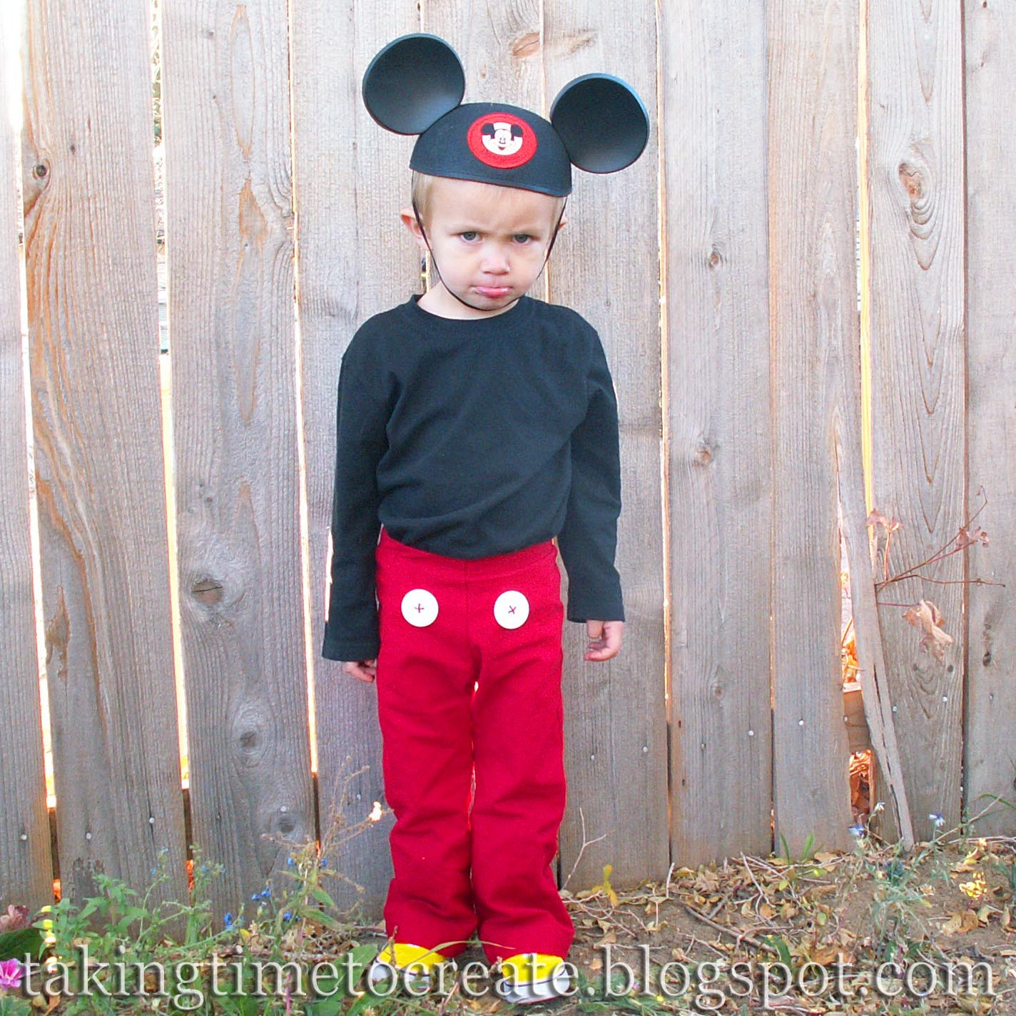 Mickey Mouse Costume DIY  Taking Time To Create A Simple Mickey Mouse Costume