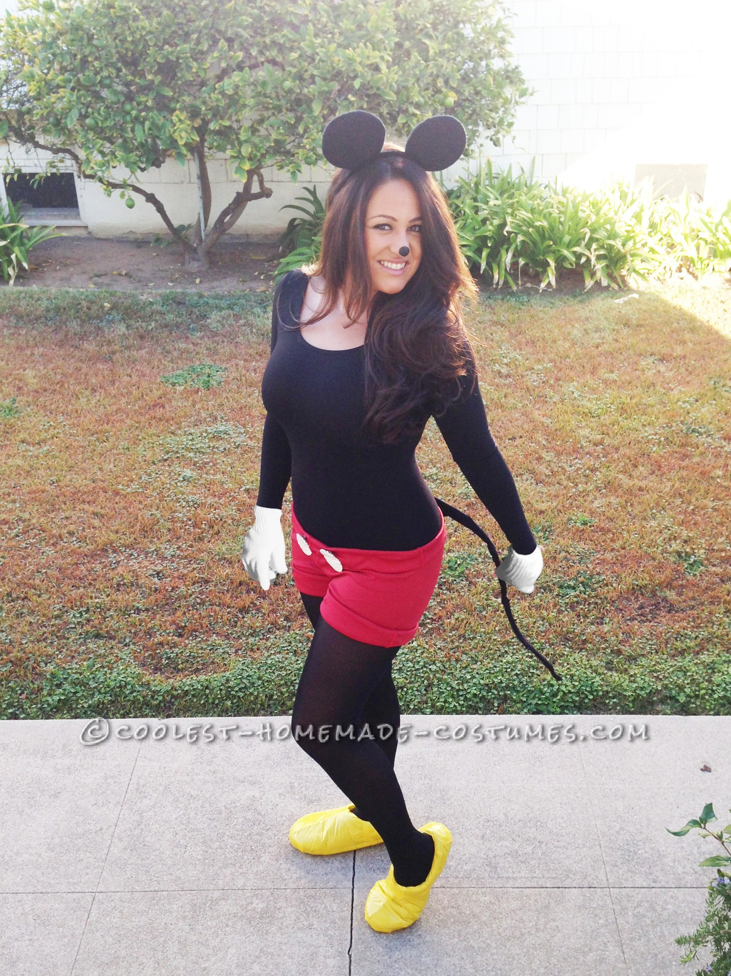 Mickey Mouse Costume DIY  Cute No Sew Mickey Mouse Costume