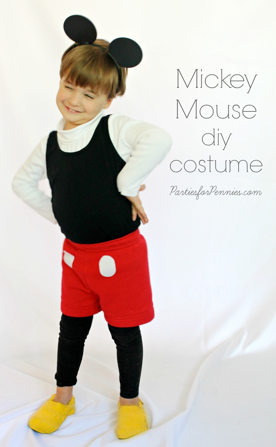 Mickey Mouse Costume DIY  DIY Halloween Costumes Parties for Pennies
