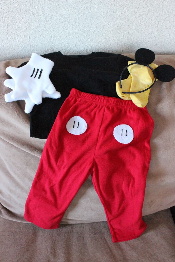 Mickey Mouse Costume DIY  DIY Mickey Mouse costume Party Ideas