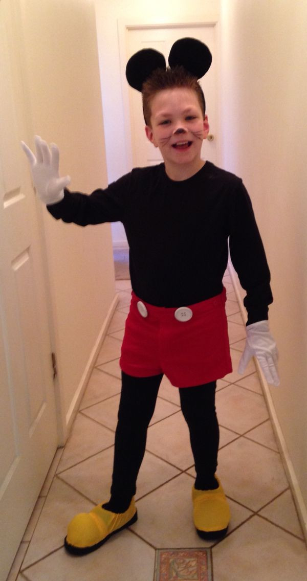 Mickey Mouse Costume DIY  8 best Homemade Mickey Mouse Costume images on Pinterest