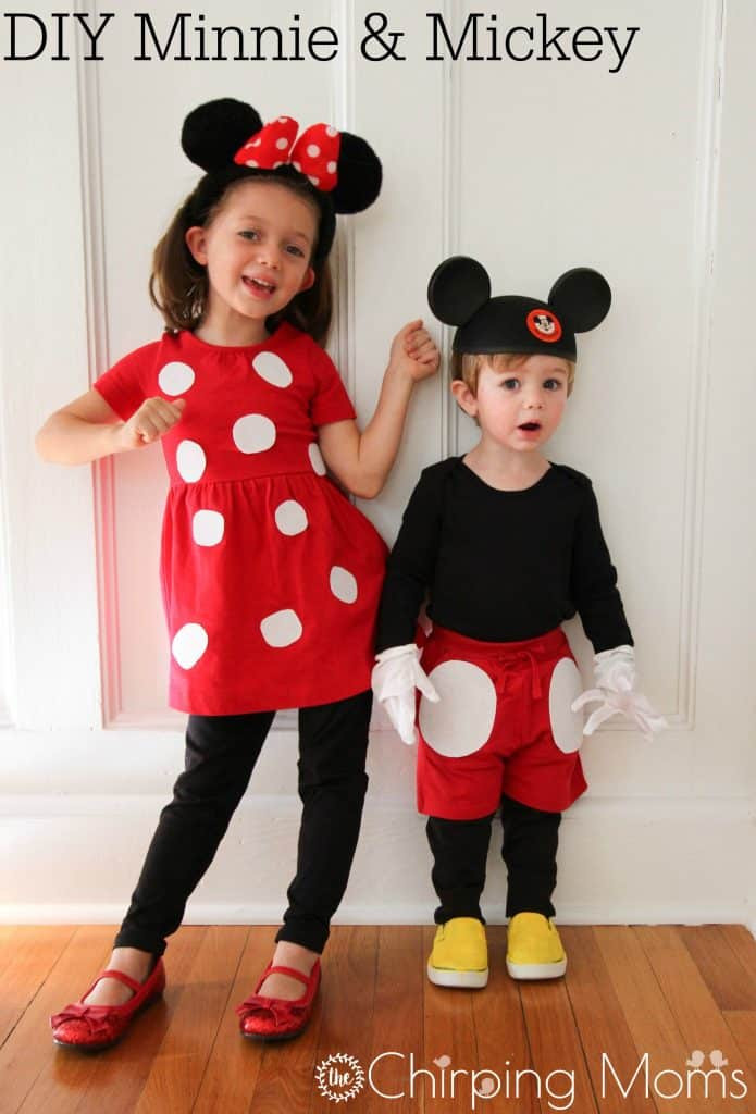 Mickey Mouse Costume DIY  Cute DIY Mickey and Minnie Costumes for All Sizes