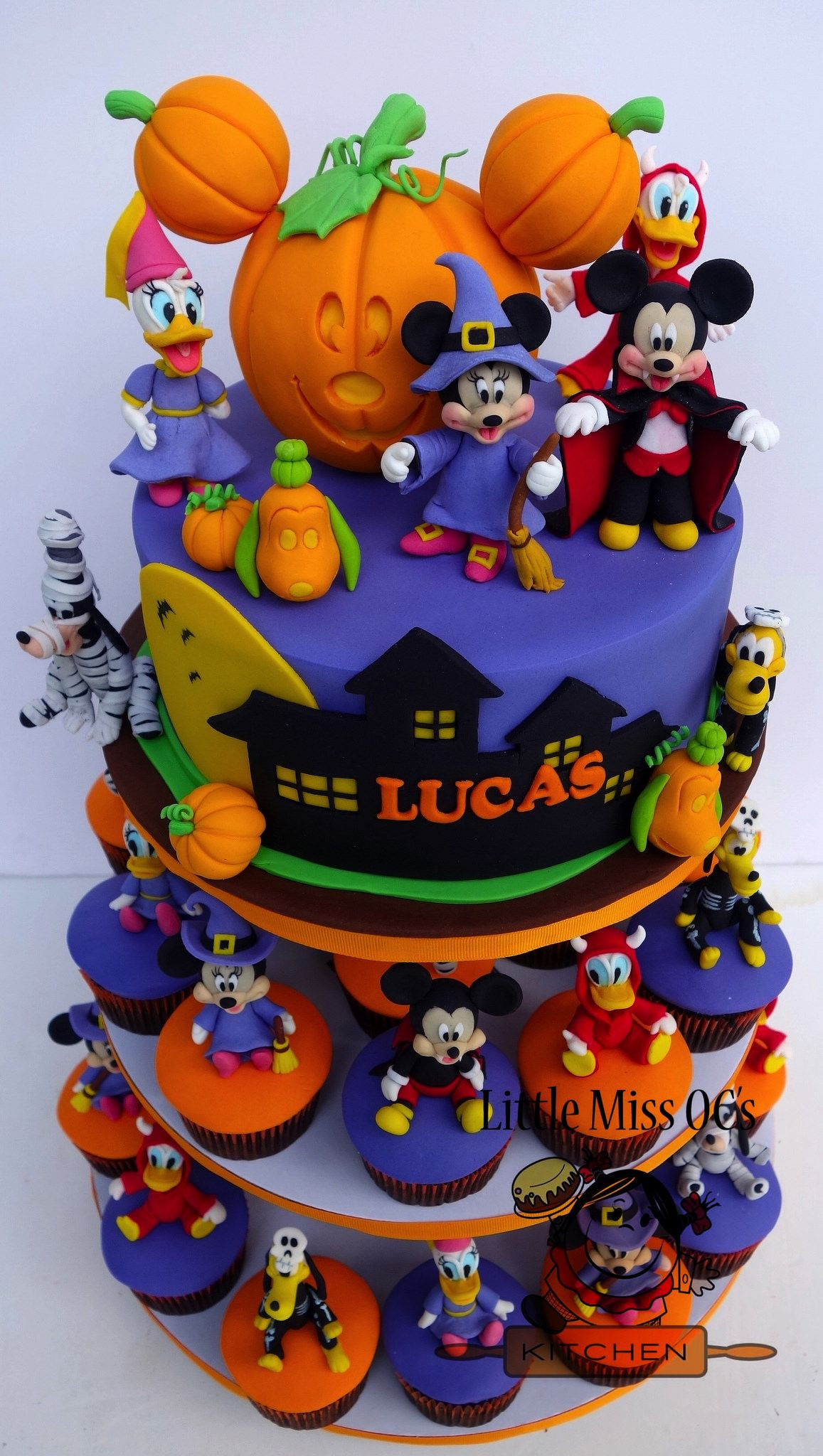 Mickey Mouse Halloween Party Ideas  mickey halloween cupcake tower