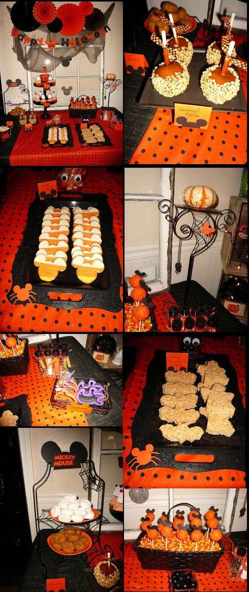 Mickey Mouse Halloween Party Ideas  Some great food ideas for a Mickey Mouse Halloween Party