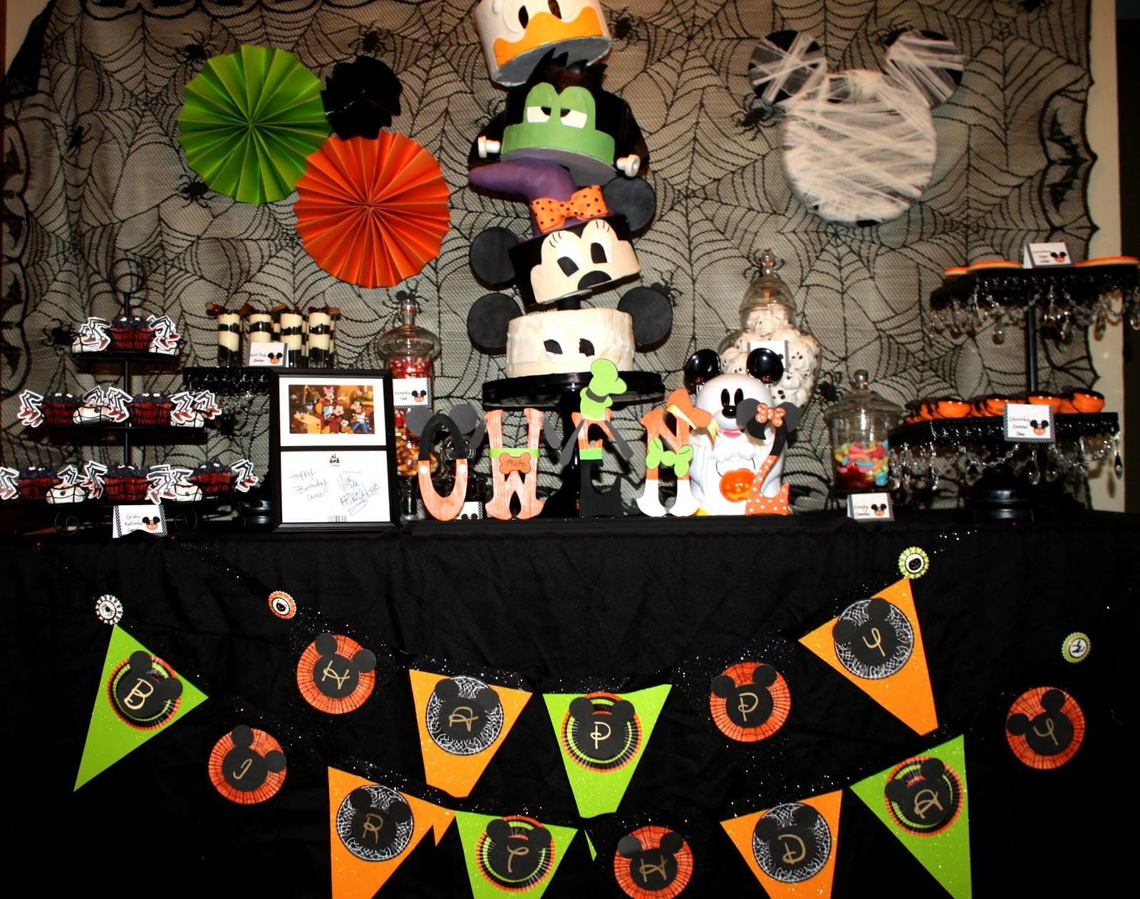 Mickey Mouse Halloween Party Ideas  Sweet Eats Cakes Owen s not so scary Mickey Mouse