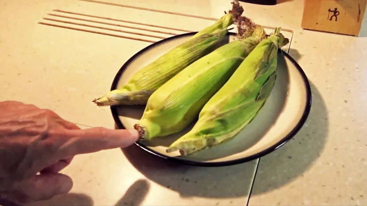 Microwave Corn On The Cob In Husk  Microwave Corn on the Cob — No Shucking & Silk Free