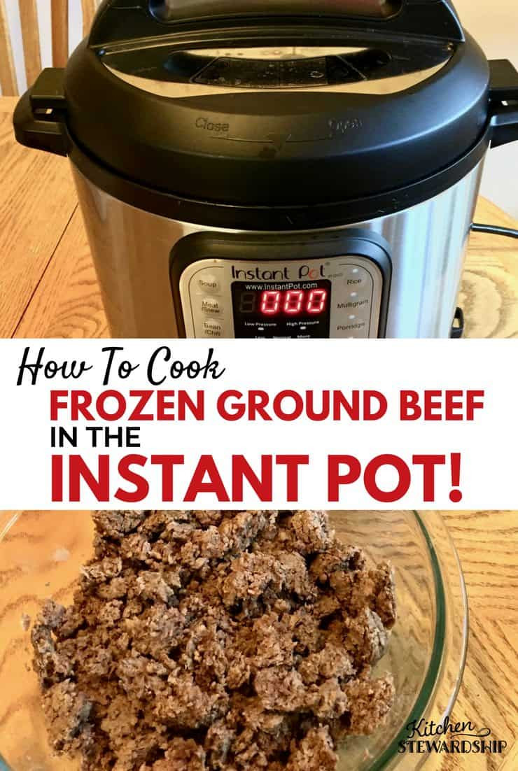 Microwave Defrost Ground Beef  How to Cook FROZEN Ground Beef in the Instant Pot Pressure