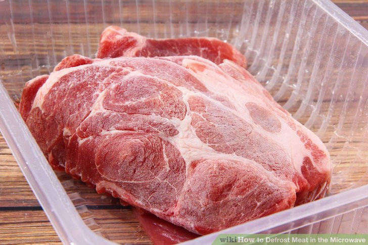 Microwave Defrost Ground Beef  How to Defrost Meat in the Microwave 13 Steps with