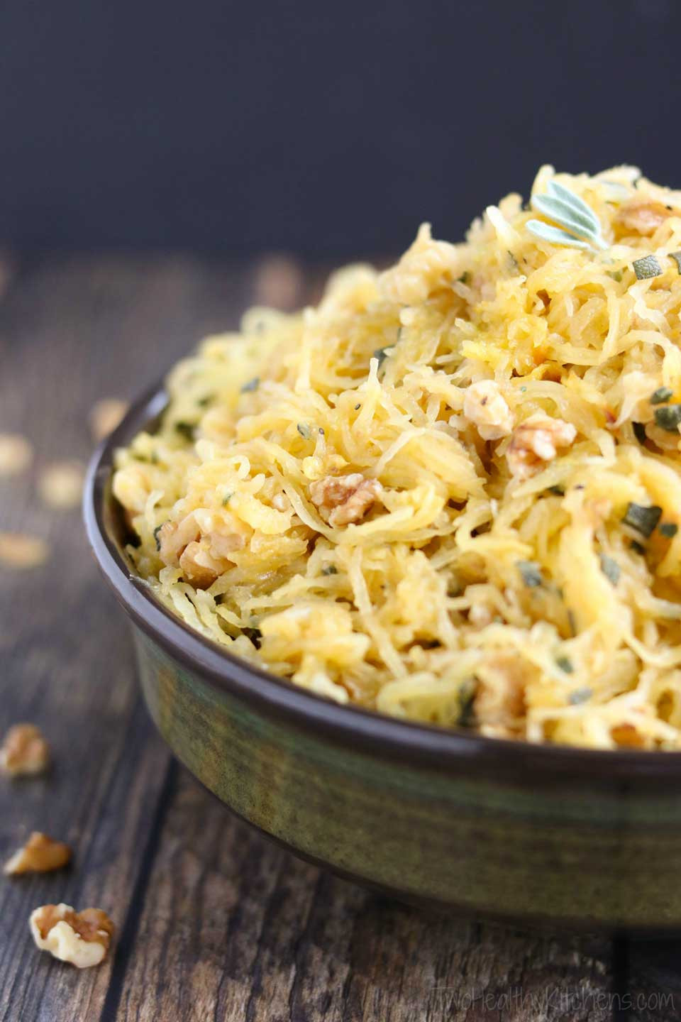 Microwave Spaghetti Squash  Microwave Spaghetti Squash with Sage Browned Butter and