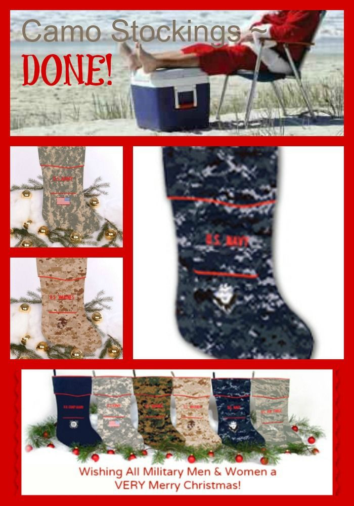 Military Gifts For Kids  Camo Stocking rfect military t Army Navy Air