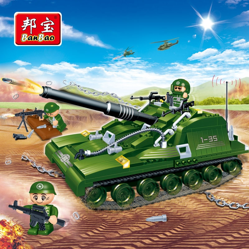 Military Gifts For Kids  BanBao Military Educational Building Blocks Toys For