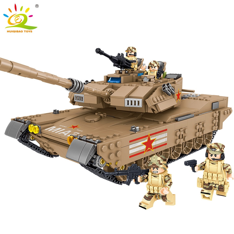 Military Gifts For Kids  1051PCS Army M1MA Tank Building Blocks patible Military