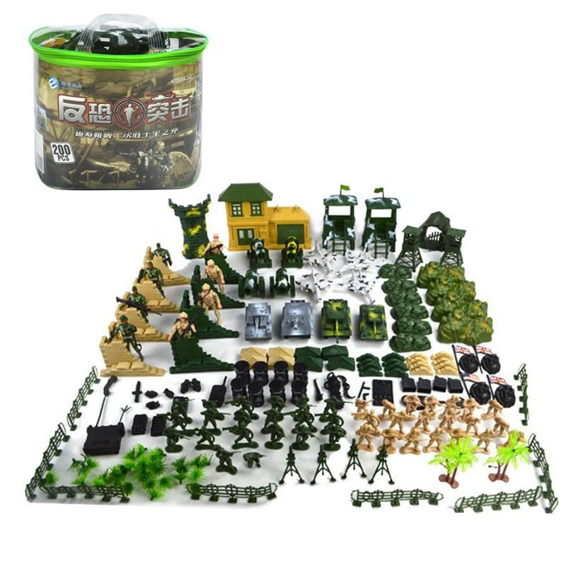 Military Gifts For Kids  200PCS Military Sol rs Army Figures & Accessories Model