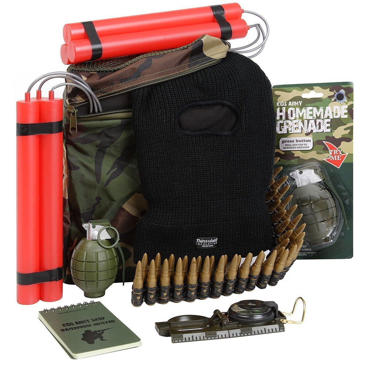 Military Gifts For Kids  Kids Army Camo Ultimate Great Escape Pack Toy Set Ideal
