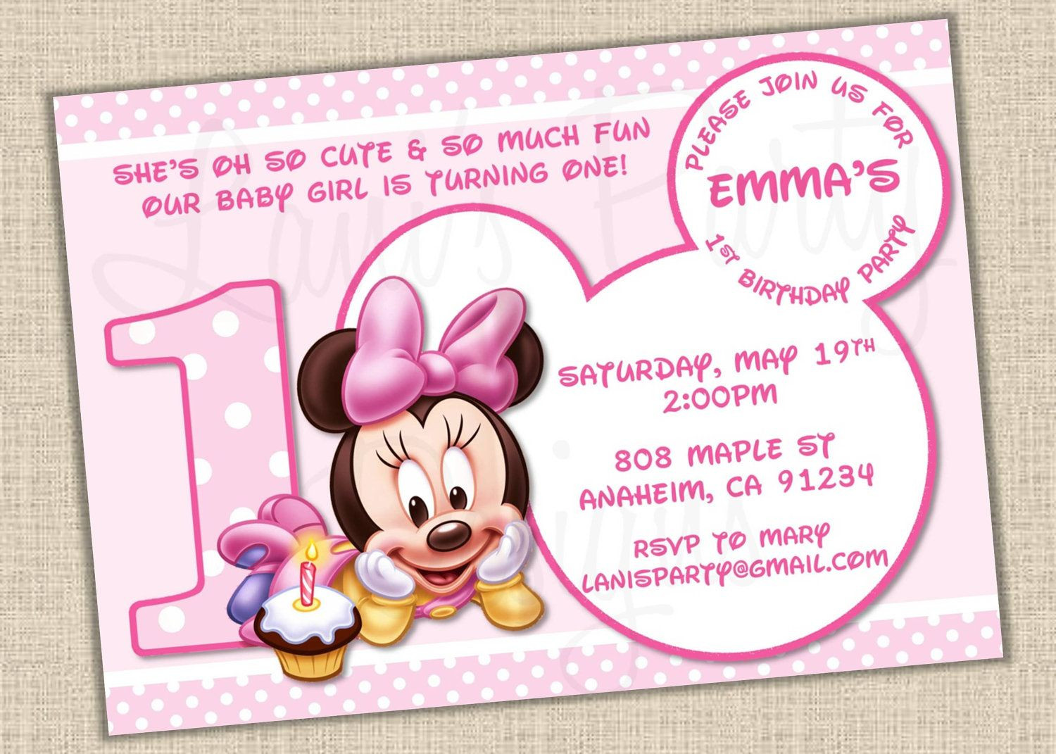 Minnie Mouse Baby Shower Invitations Party City  Minnie Mouse Baby Clip Art Shower Invitations line Free