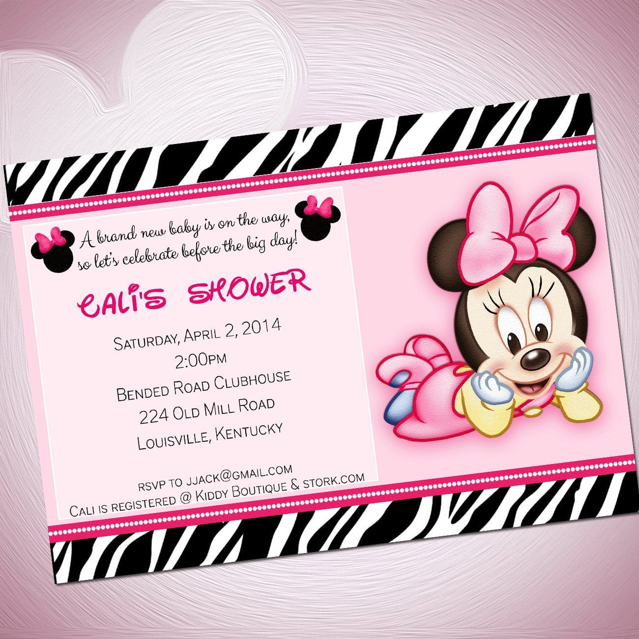 Minnie Mouse Baby Shower Invitations Party City  Baby Minnie Mouse Template Invitations