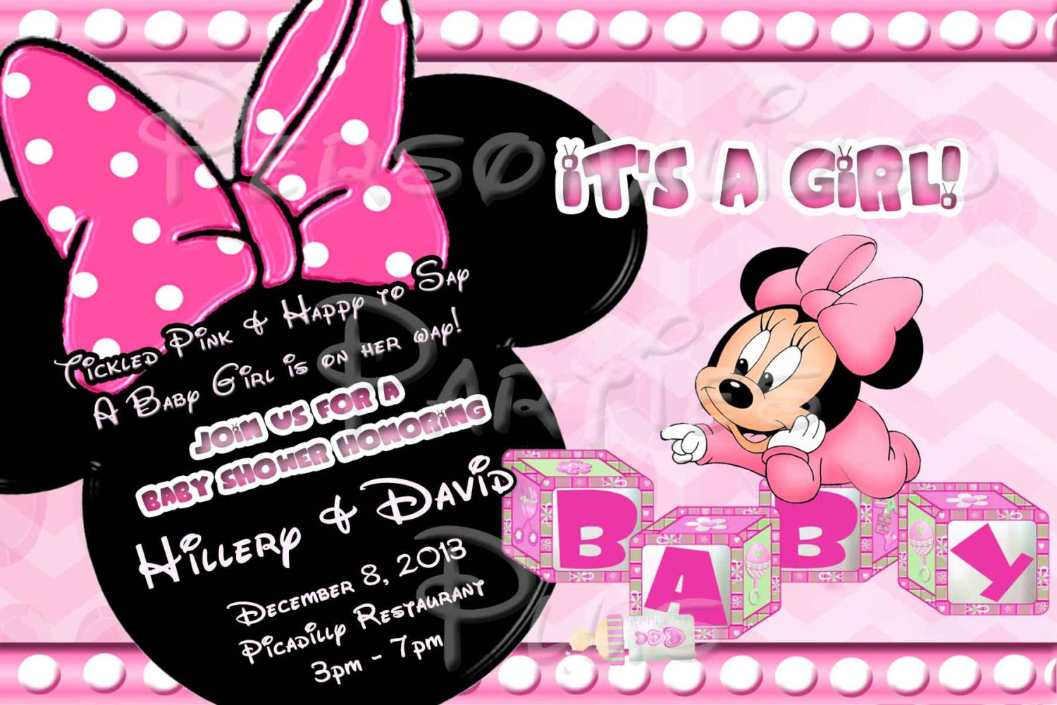 Minnie Mouse Baby Shower Invitations Party City  Baby Minnie Mouse Baby Shower Invitations