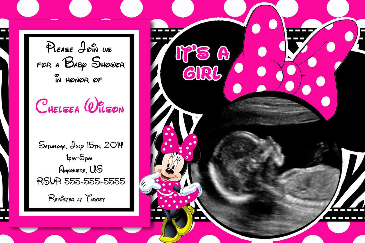 Minnie Mouse Baby Shower Invitations Party City  Baby Shower Invitations Minnie Mouse Baby Shower