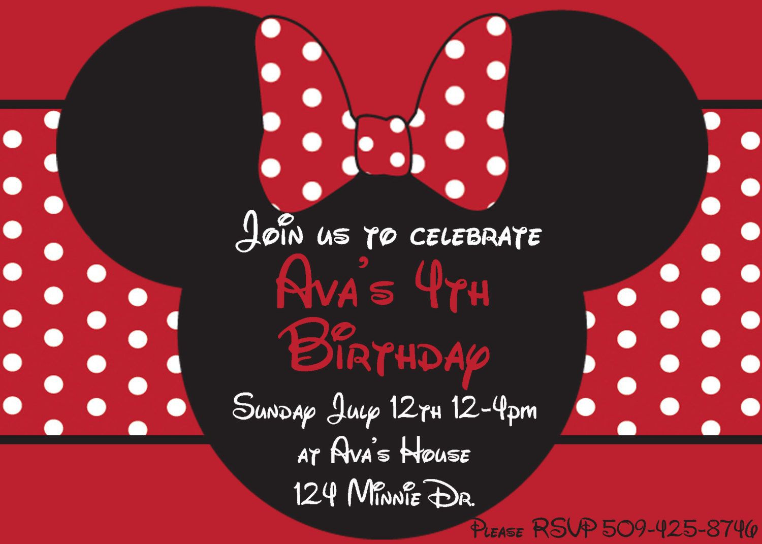 Minnie Mouse Baby Shower Invitations Party City  minnie mouse birthday party ideas