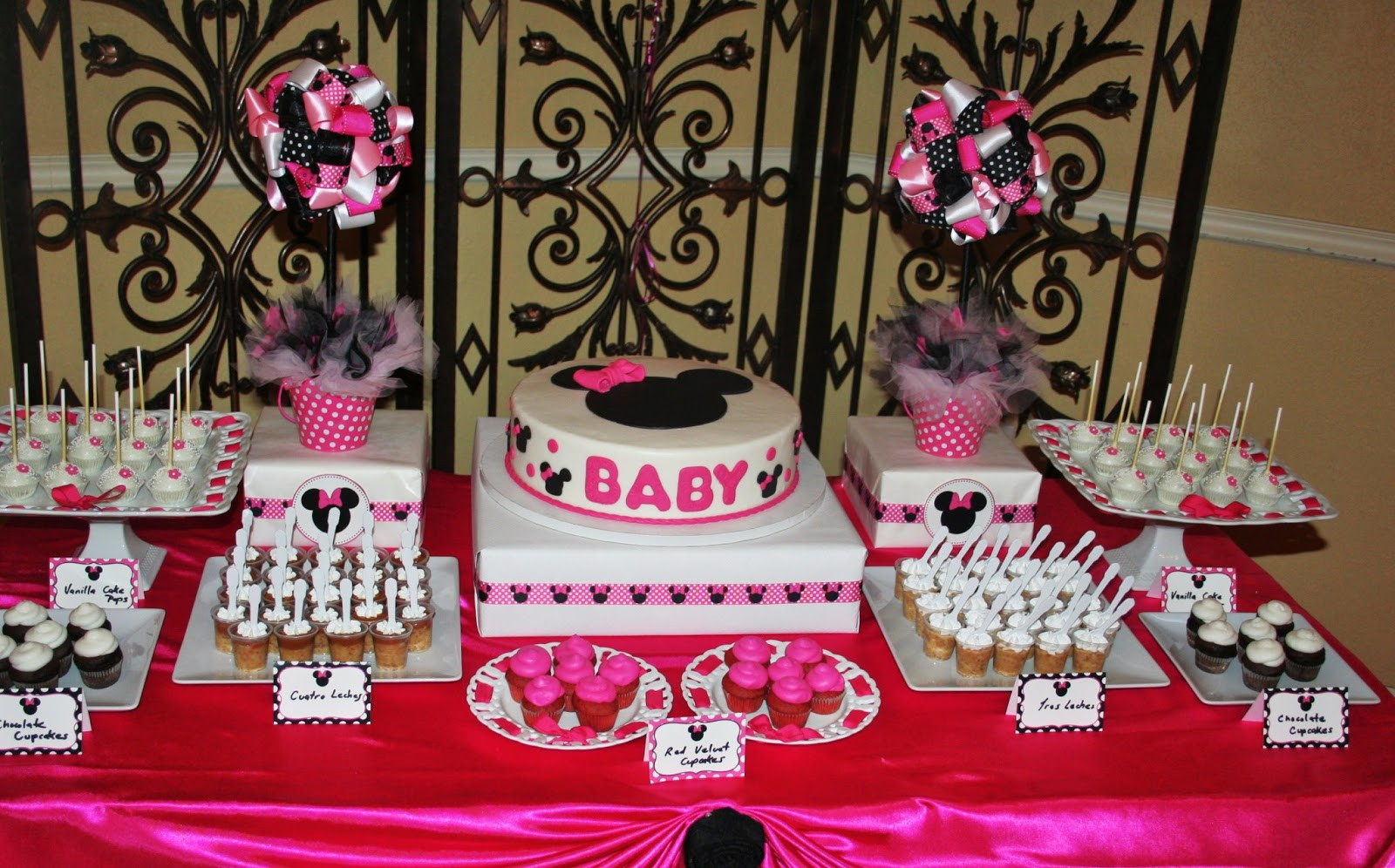Minnie Mouse Baby Shower Invitations Party City  SWEET TREATS CAROUSEL