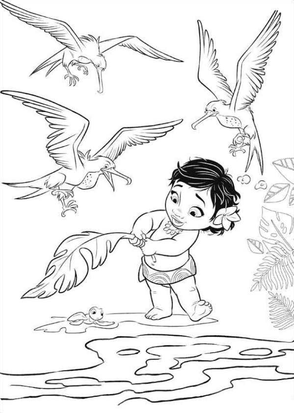Moana Baby Coloring Pages  Moana Coloring Pages Best Coloring Pages For Kids