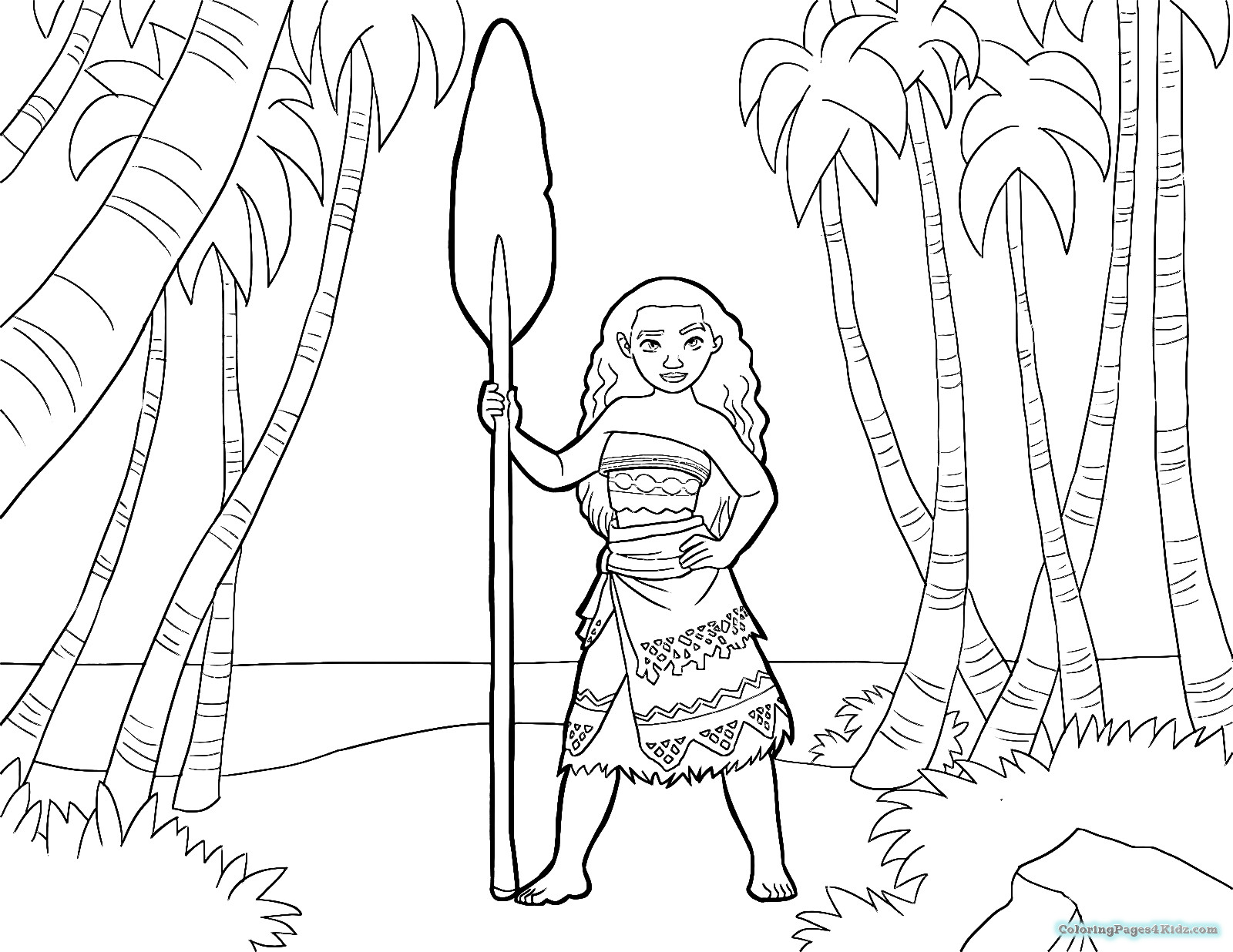 Moana Baby Coloring Pages  Coloring Pages Baby Moana Easy