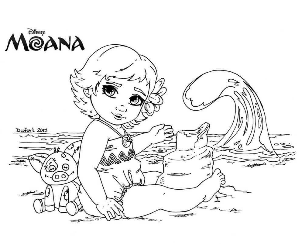 Moana Baby Coloring Pages  35 Printable Moana Coloring Pages
