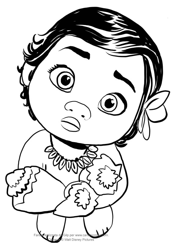 Moana Baby Coloring Pages  Baby Moana Coloring Pages