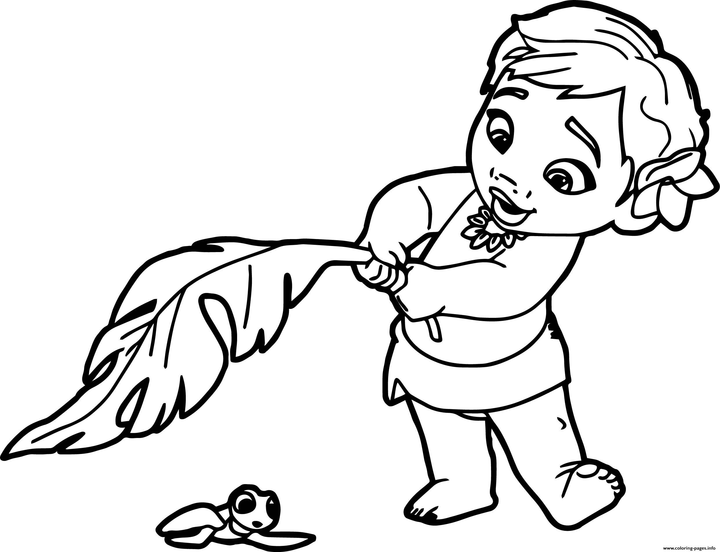 Moana Baby Coloring Pages  Baby Moana Princess Disney Coloring Pages Printable