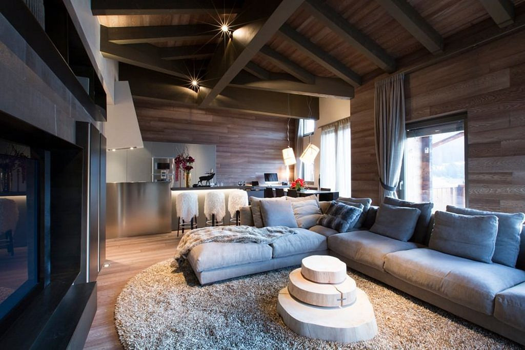 Modern Apartment Living Room  Modern Apartment in Switzerland Fresh Ideas and Curious