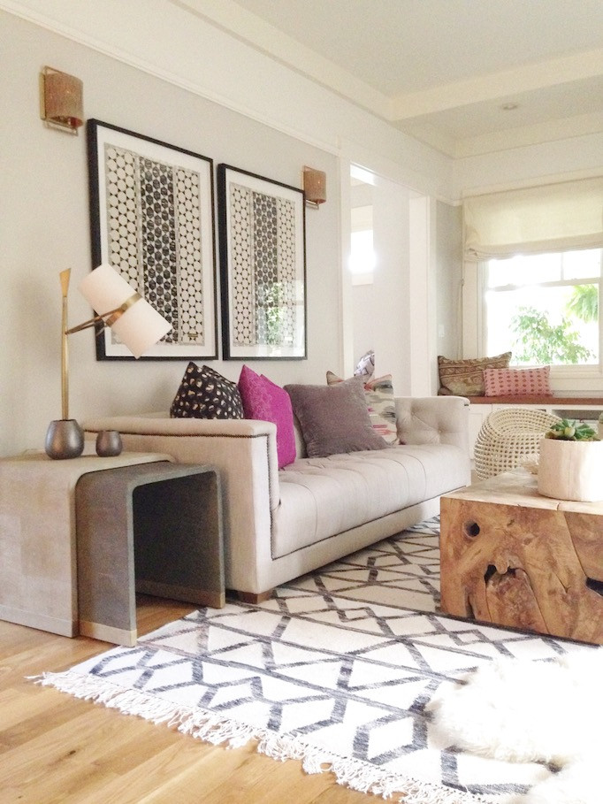 Modern Bohemian Living Room  The Gray Paint Guide Owens and Davis