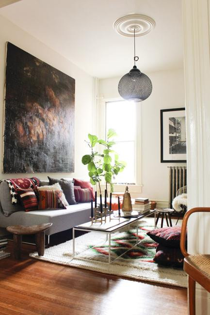 Modern Bohemian Living Room  Bohemian Decor Ideas Adding Chic and Color to Small Living