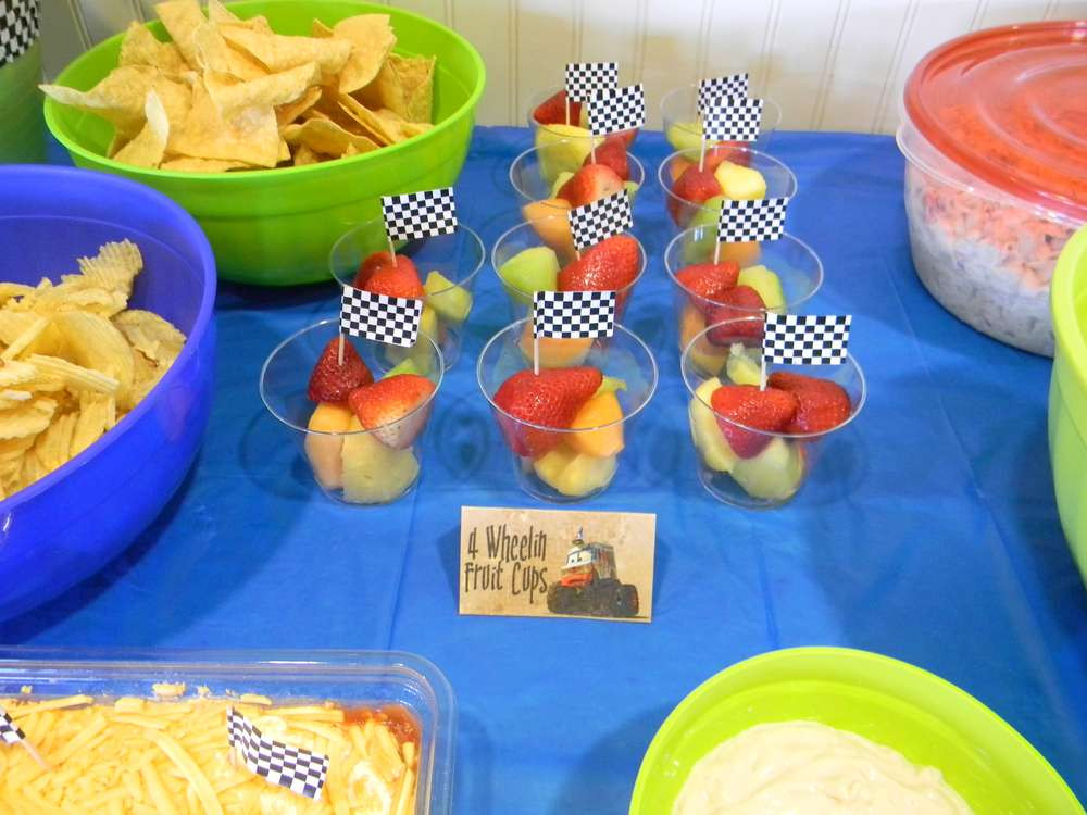 Monster Truck Birthday Party Food Ideas  Mater Monster Truck Party Birthday Party Ideas
