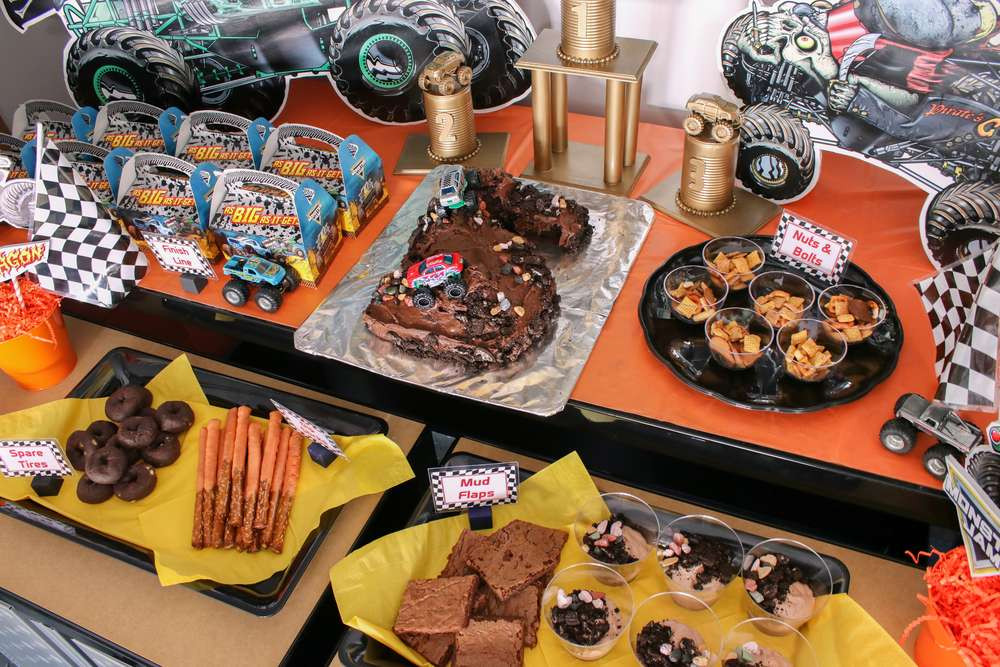 Monster Truck Birthday Party Food Ideas  Monster Truck Birthday Party Ideas 1 of 10