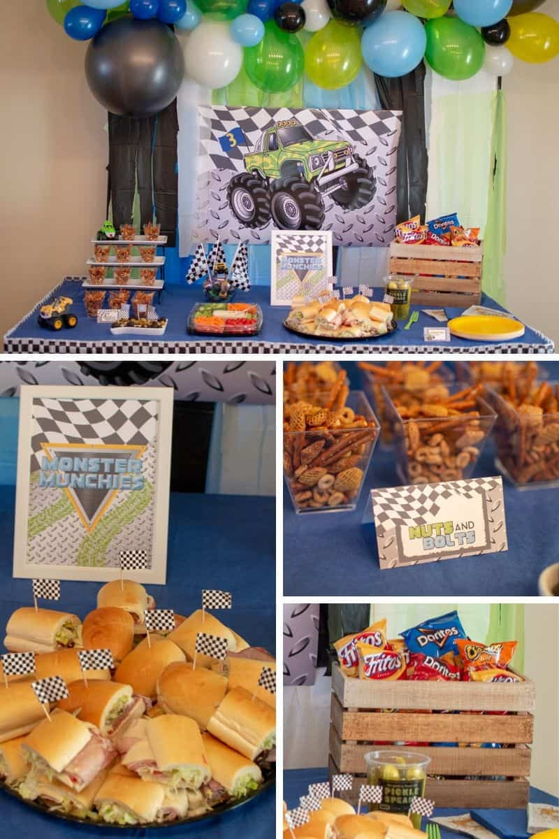 "Monster Truck Birthday Party Food Ideas  Monster Truck ""Monster Jam"" Birthday Party Elva M Design"