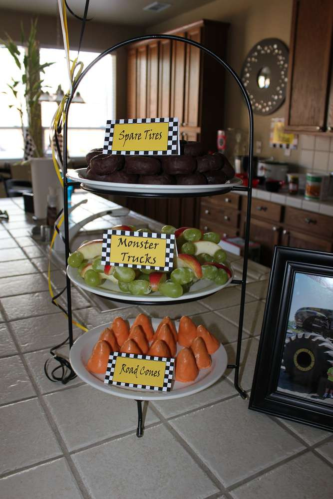 Monster Truck Birthday Party Food Ideas  Monster Truck Birthday Party Ideas 4 of 37