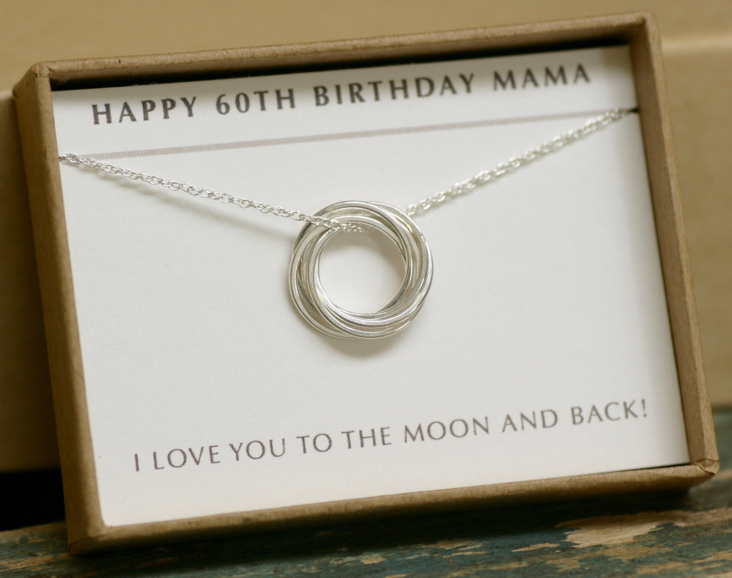 Mother 60Th Birthday Gift Ideas  60th birthday t 6 linked circle necklace t for mother