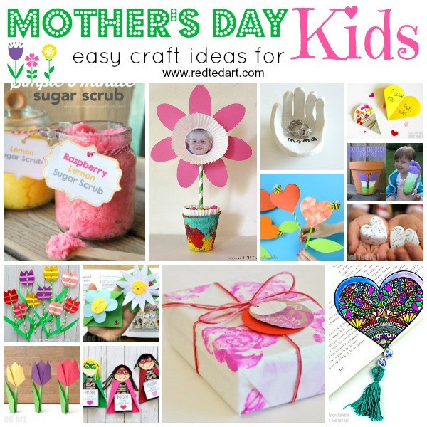 Mother Day Craft Ideas For Kids To Make  Easy Mother s Day Crafts for Kids to Make Red Ted Art