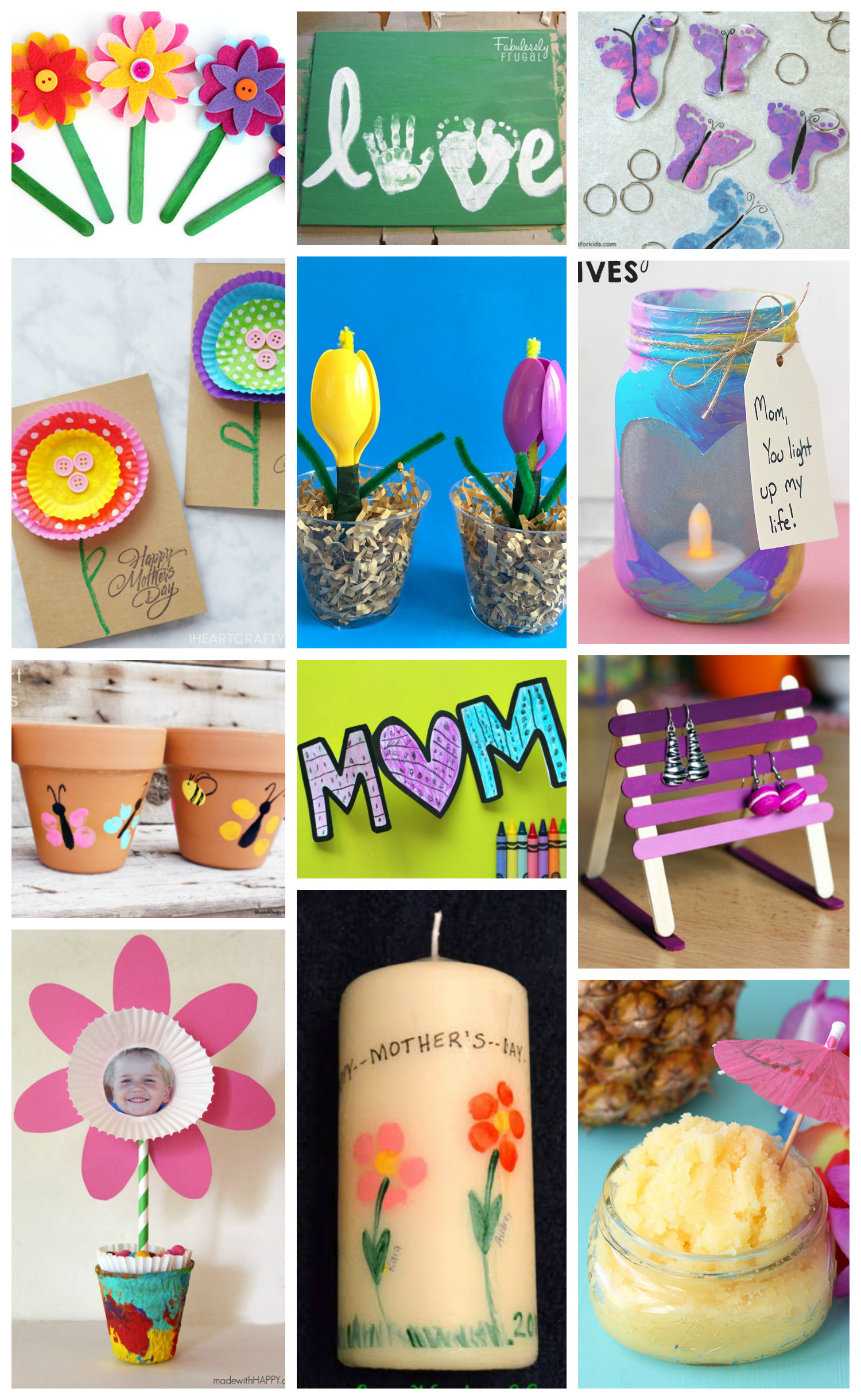 Mother Day Craft Ideas For Kids To Make  Easy Mother s Day Crafts for Kids Happiness is Homemade