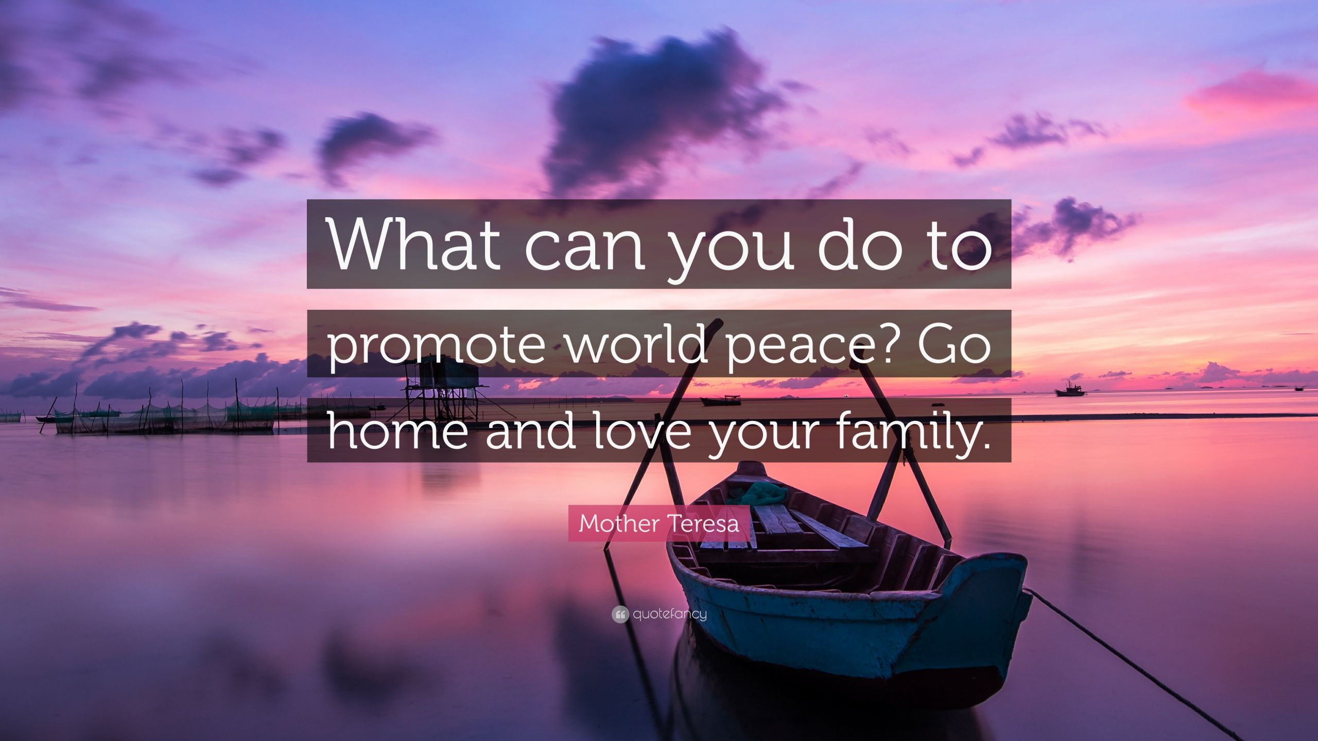 "Mother Teresa Peace Quote  Mother Teresa Quote ""What can you do to promote world"
